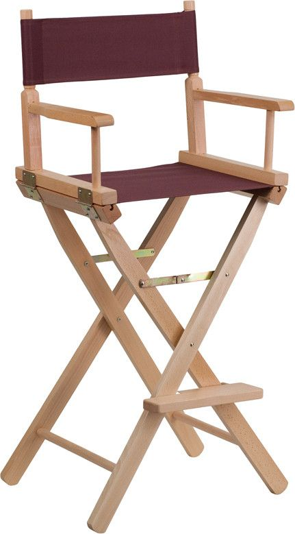 Beautiful Bar Height Directors Chair