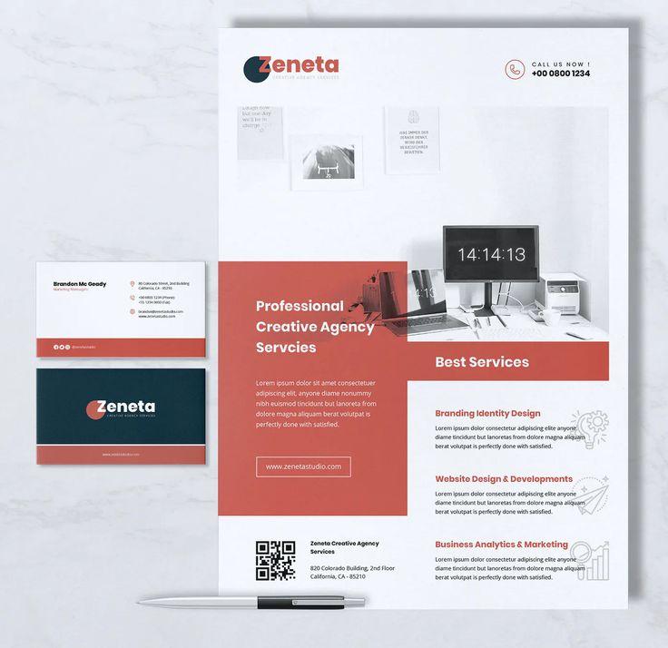 Creative Agency Flyer & Business Card Templates