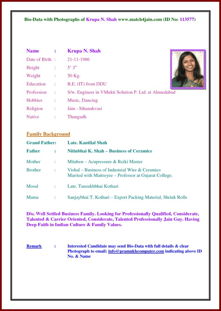 The 25+ best Marriage biodata format ideas on Pinterest Marriage - free download biodata format