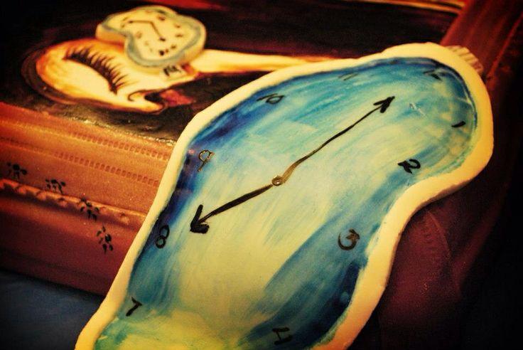 Fondant Salvador Dali artist cake