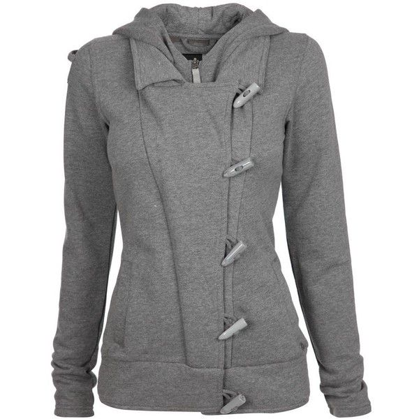 Bench | Womens | Grey Marl | Sweats & Hoodies | Phil ($42) ❤ liked on Polyvore featuring outerwear, jackets, cardigans, coats, grey, gray jacket and grey jacket