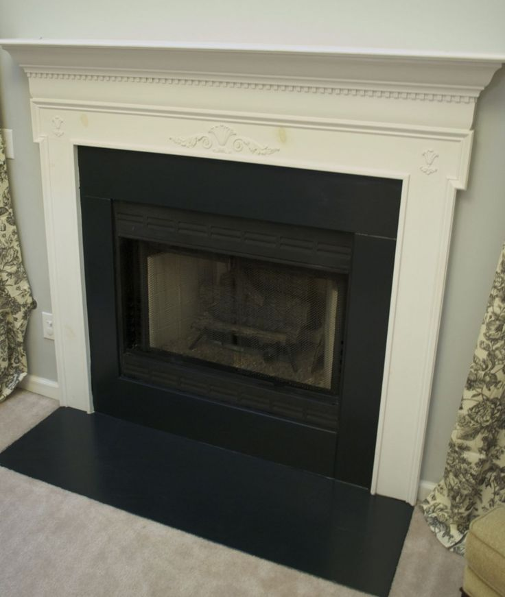 Awe Inspiring Painting Tile Around Fireplace Excellent