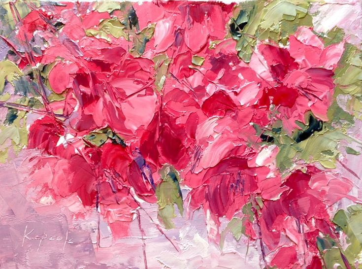 Beautiful Bougainville, 6x8, Oil on canvas #florals #botanical #colourful