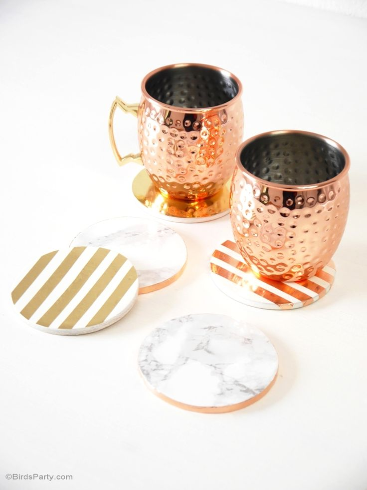 Diy Metallic Foil Marble Coasters Crafts Marbles And So