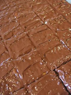 Homemade Heath Bars (4 ingredients) ** change to 8x8 pan & two layers of townhouse crackers.