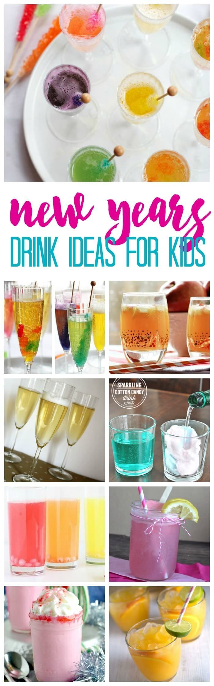 New Years Eve Drinks for Kids! Kid Friendly Party Drink Recipes to ring in the new year!