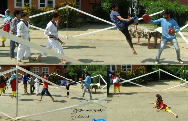 In an effort to spread awareness of self defence & arming youth with this talent #Indian Army organised Taekwondo classes for http://students.pic.twitter.com/1GlKYwW8R7 #IndianArmy #Army