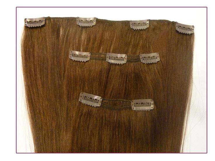 Clip-On Extension, #Extensiones de quita y pon.   Cabello 100% natural tejido con micropeinetas. 3 piezas, 80gramos de cabello. Largo del cabello 50cm.