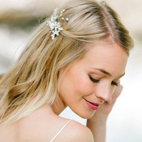 Braut Haarkamm Boho Haarschmuck Fur Die Hochzeit Mit Blattern Eden Brautfrisur Frisur Braut Frisur Hochzeit