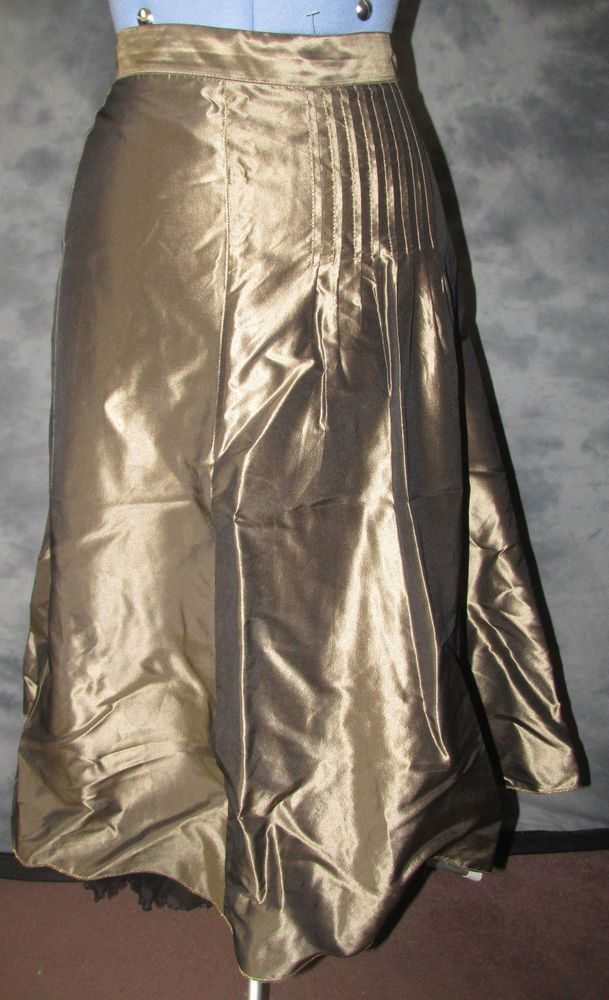 Pret a Porter,ladies,size 16,dark gold,calf length,no pattern,party style,Skirt.