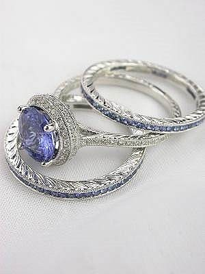 Sapphire and diamond rings. Love these!