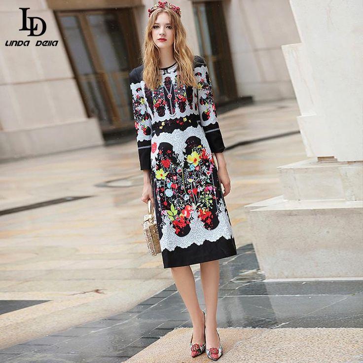 Fall Winter Brand Women's Long Sleeve Beading Character Pattern Casual White Dress Love it? www.storeglum.com... #shop #beauty #Woman's fashion #Products
