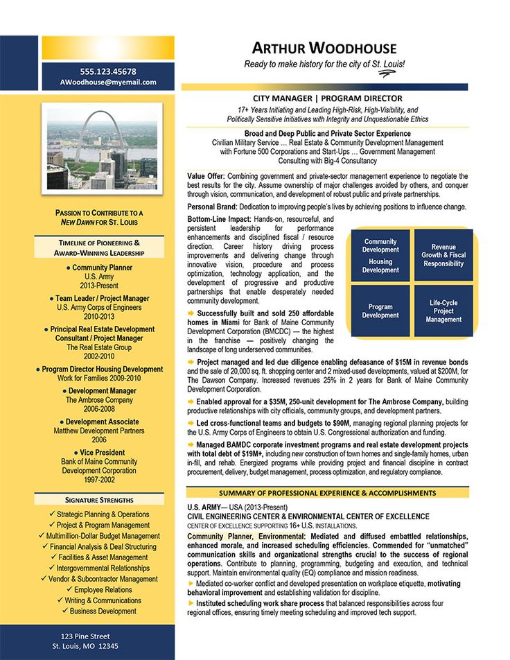 City manager resume example by our executive resume