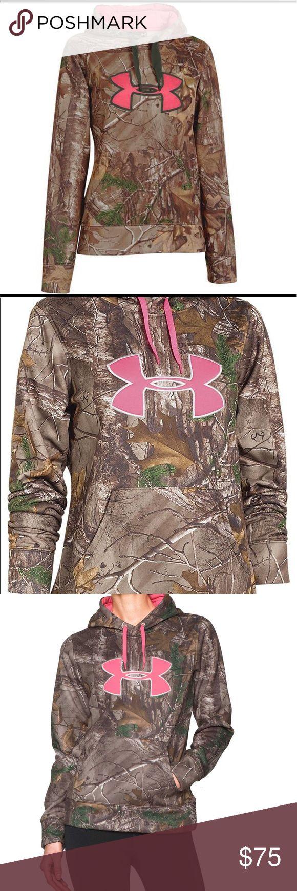 Under Armour camo hoodie S NWT pink logo $75 Under Armour camo hoodie S NWT pink logo $75 new camouflage Under Armour Tops Sweatshirts & Hoodies