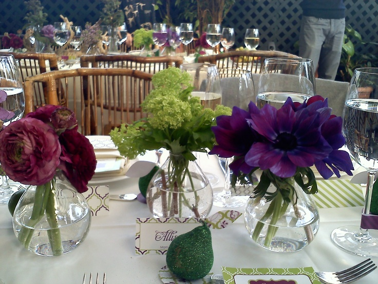 A table setting by the Hostess with the Mostest at event in NYCTable Settings, Tables Sets, Sets Pretty, Parties Stuff