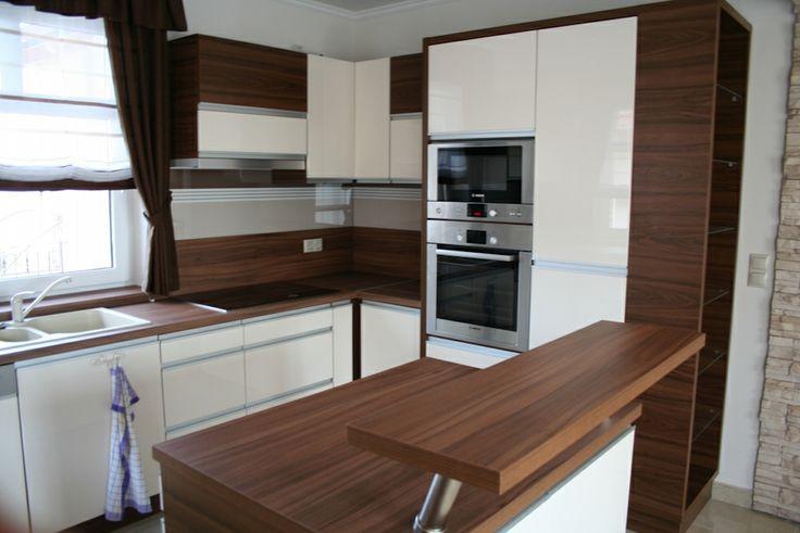 Fehér barna kombináció. Ilyet szeretnék :-)  Konyha design - kitchen design  Pinterest