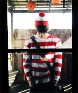 Grant Gustin as Waldo!!! THAT IS ADORABLE!!!!