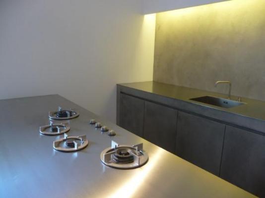 ABK gas iCooking on 4mm stainless steel worktop