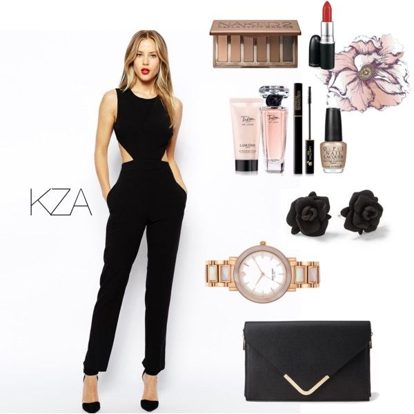 Stunning Black Jumpsuit. Wear this kind of style to attend your dinner party or casual event. Check out my polyvore for more ideas!