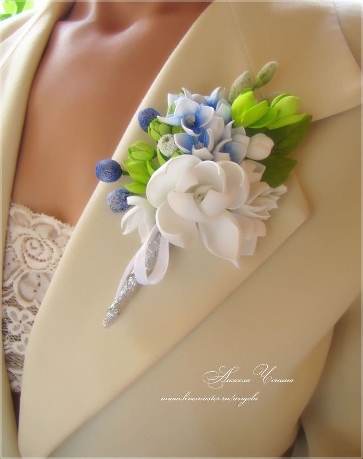 Купить Брошь-бутоньерка - брошь-бутоньерка свадьба, свадьба брошь-бутоньерка, бутоньерка-букетик брошь