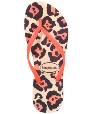 Havaianas Women's Slim Animal Flip Flops - Orange 11/12