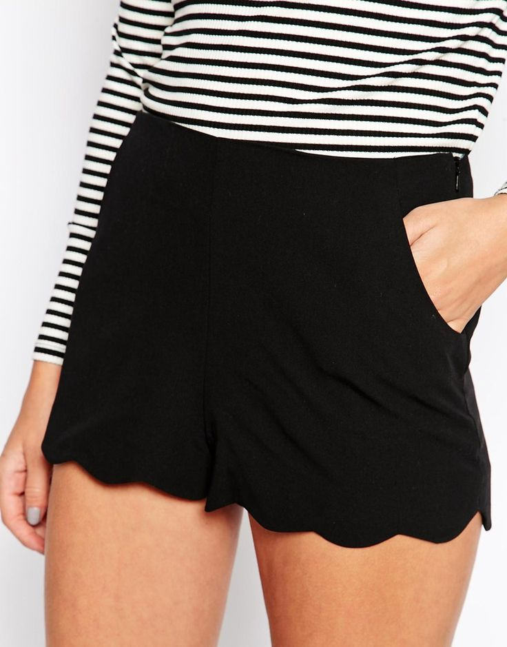 ASOS | ASOS Shorts with Scallop Hem at ASOS