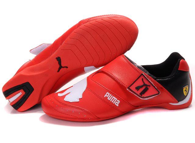 Puma Ferrari Mens Shoes Red White