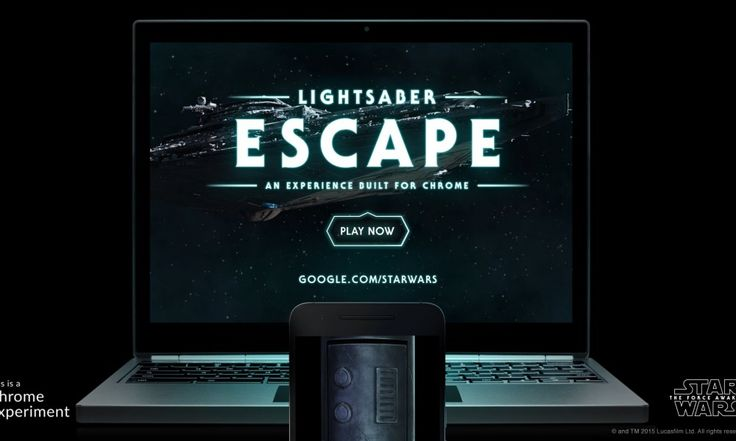 Turn Your Smartphone into a Lightsaber – Chrome Game for Star Wars - http://gamesack.org/turn-your-smartphone-into-a-lightsaber-chrome-game/