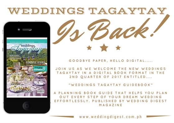 Permission to Post! Sonya's Secret Garden At Tagaytay City Sonya's Secret Garden At Tagaytay City  WEDDINGS TAGAYTAY IS BACK!!!   Planning a wedding in Tagaytay and Cavite is now easier as we launch our newest edition in a DIGITAL FORMAT freely accessible at www.weddingdigest.com.ph.   Weddings Tagaytay is one of the projects of Wedding Digest Philippines magazine this 2017. This is a comprehensive planning resource and guide for bride who dreams to tie the knot in Tagaytay and Cavite. It…