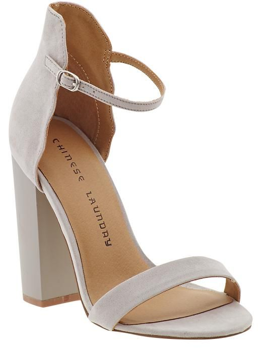 off-white open-toe sandal with block heel // perfect for all of my summer outfits