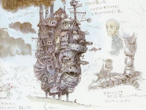Классная Японская анимация Хаяо Миядзаки ходячий Замок Хаула limited edition мини металл модель Украшения купить на AliExpress