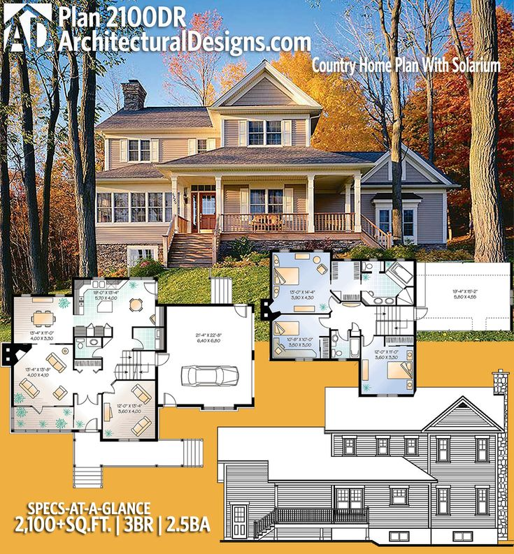 Architectural Designs House Plan 2100DR gives you