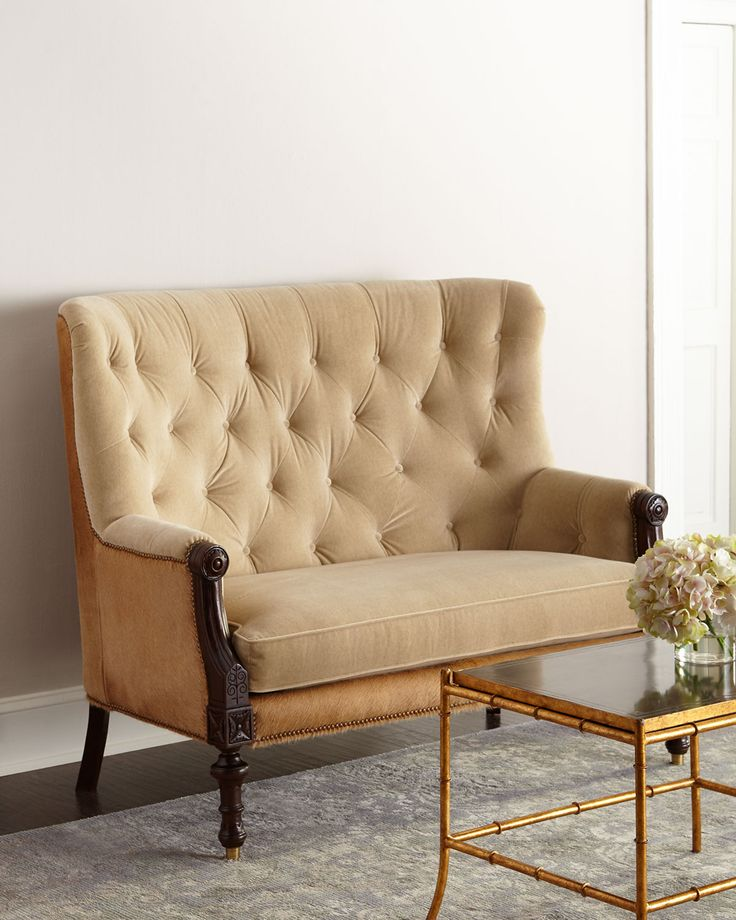 Massoud Tolliver Settee Furniture Art Deco Sofa Settee