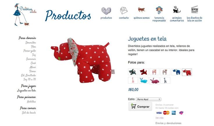 Los Diseños de Lola. Accesorios para tu mascota: www.losdisenosdelola.com.ar/products/juguetes-en-tela