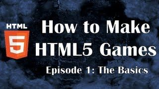 First tutorial about making a video game in HTML5. This guide will cover mostly Javascript, showing you the basics of this programming language.  Part 2: http://www.youtube.com/watch?v=XgK4YaMqQFg  All episodes: http://rainingchain.com/tutorial/html5.  If you have any question, feel free to post a comment below or send me a Youtube PM.  Code + Useful Summary: http://pastebin.com/CzNtUr1B  SUMMARY:  1. Tools  Google Chrome: https://www.google.com/intl/en/chrome/browser/  Notepad…