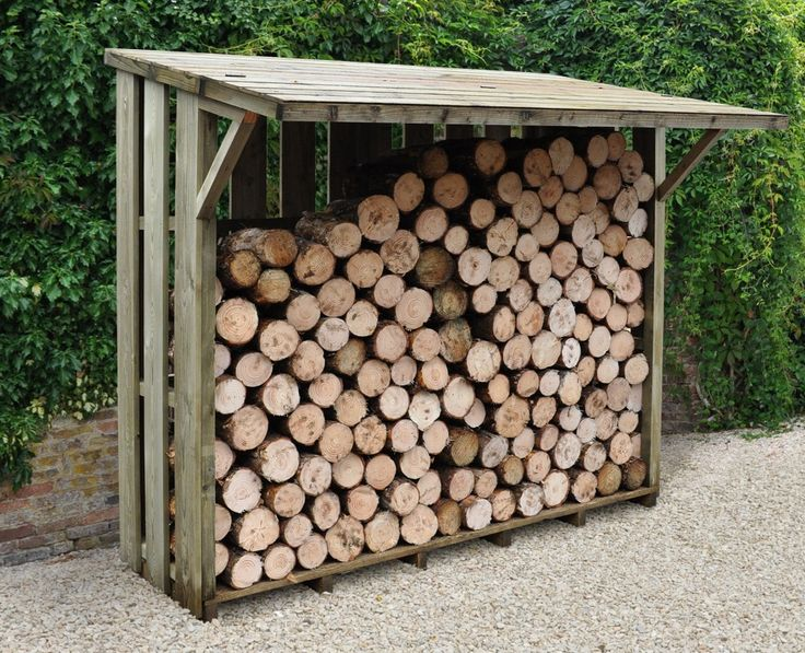 Forest Flip Roof Log Store | This large capacity log store features a handy lift up roof section, allowing easy access to your logs whilst providing protection from the rain and wind. Manufactured from pressure treated slatted timber, to keep your logs dry whilst allowing air to circulate.