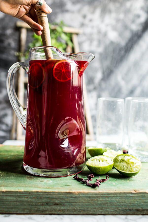 Hibiscus, lemongrass, Basil and Honey Sweet Iced Tea   halfbakedharvest.com @hbharvest
