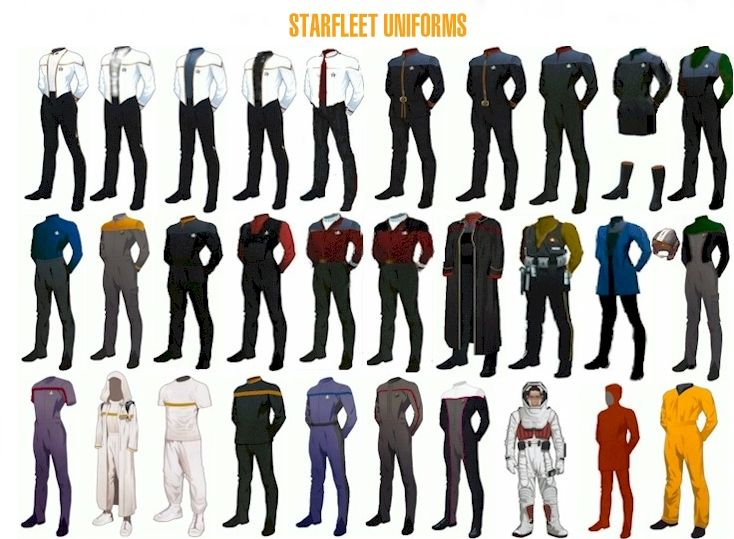 Star Trek Uniforms - http://www.lcars.org.uk/uniforms.htm