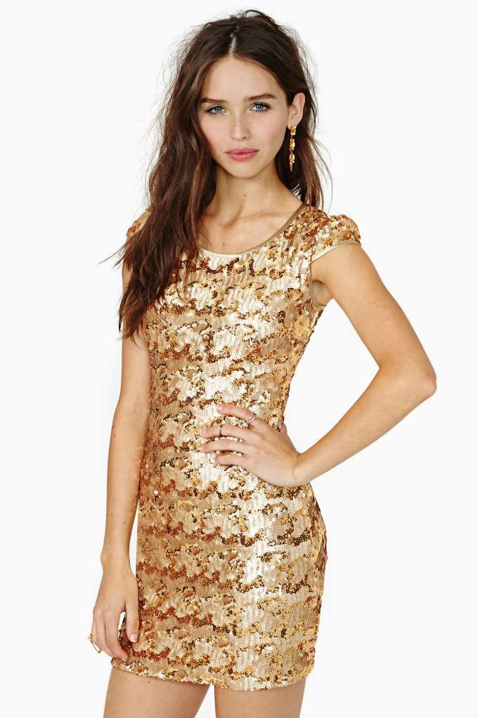 Rare London Sun Glitter Sequin Dress