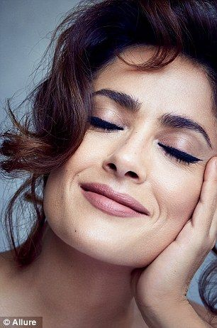 Aging gracefully: Salma said she never used fillers or had plastic surgery to keep her youthful appearance, noting that she is grateful that she never succumbed to pressure to use Botox when she was younger