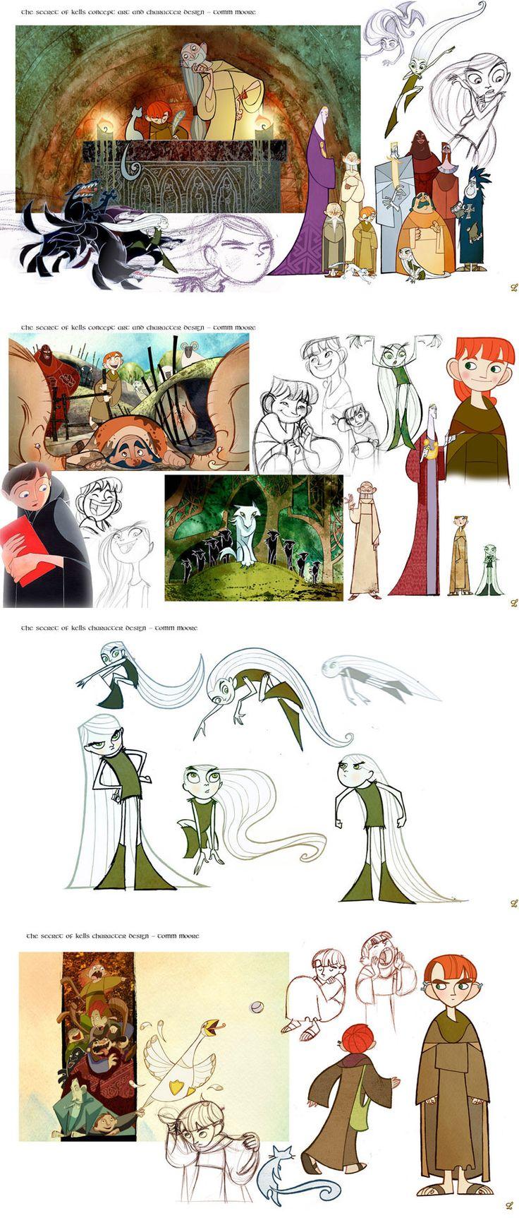 Artes de produção do filme The Secret of Kells (O Segredo de Kells)   THECAB - The Concept Art Blog
