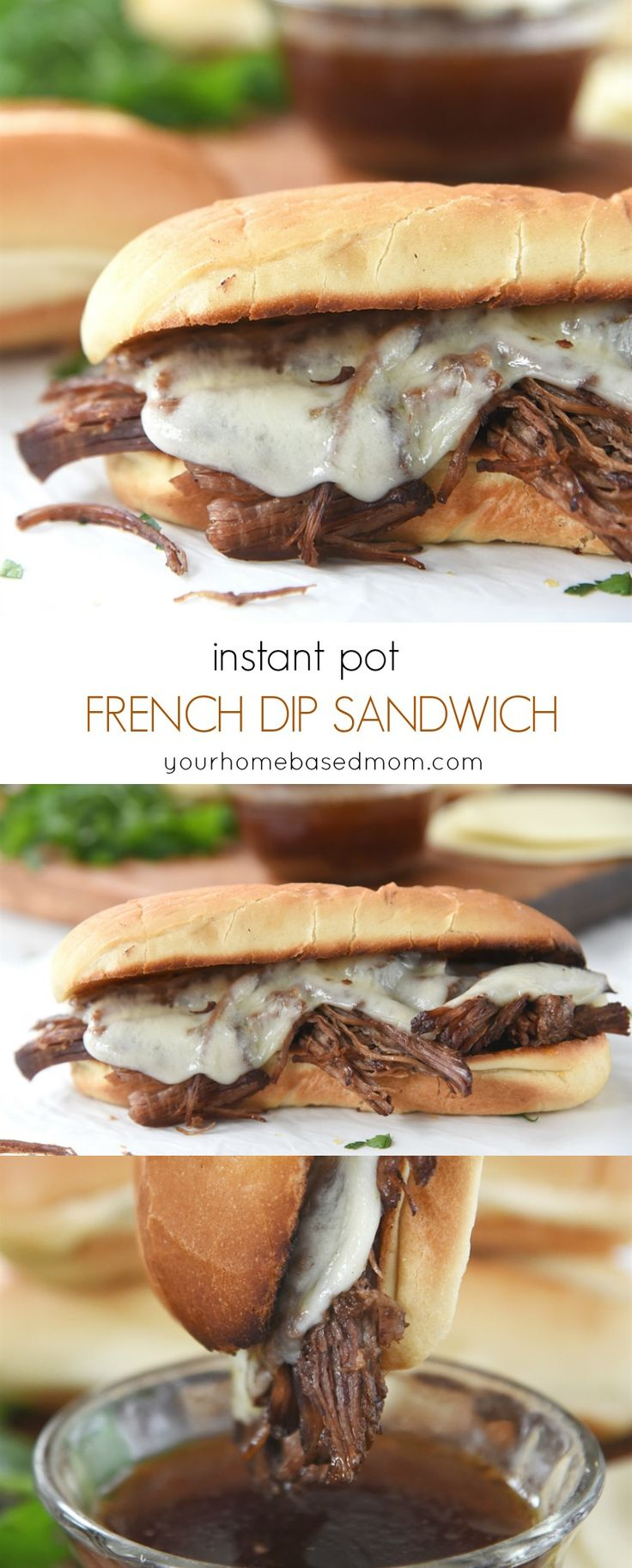 Instant Pot French Dip Sandwiches - perfect way to put together a quick and easy dinner that's delicious!