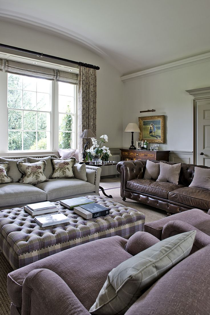 Like The Idea Of Leather Tartan And Pulling Colours Together Country Interiors