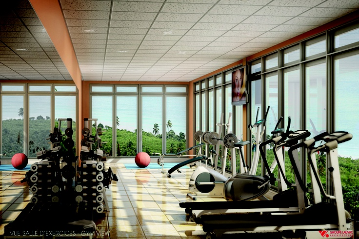 The Gym with a Beach View