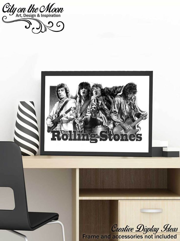 "COLLECTIBLE ITEM: Due to their limited nature, these Rolling Stones prints are a highly-collectible piece from artist Mike Duran. POSTER SIZE: 18"" X 24"" - Unlike other sketches that just offer you a picture-framed size print, these Rolling Stones original sketch prints come in full, poster-sized glory."
