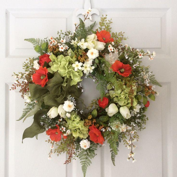 Spring Wreaths-Mother's Day Wreath-St Patrick's by ReginasGarden