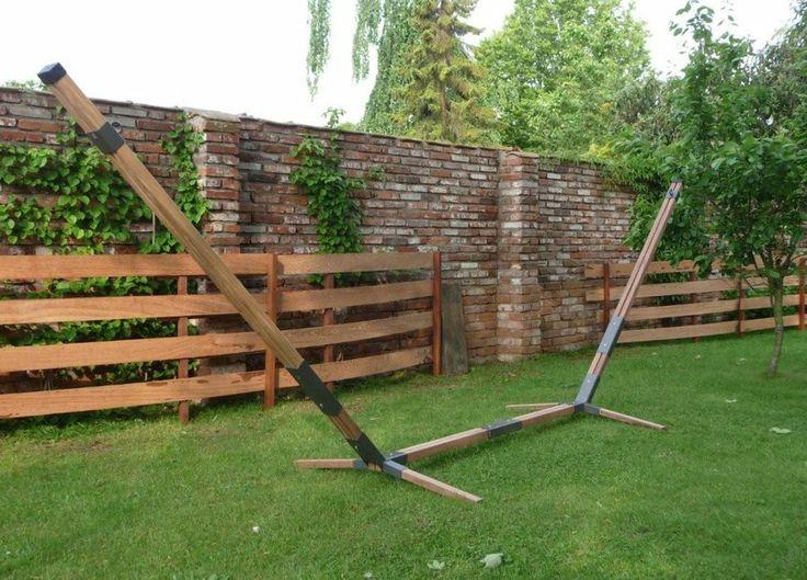 Hangmat standaard Madeira Two (FSC hout) voor bijvoorbeeld in de tuin.