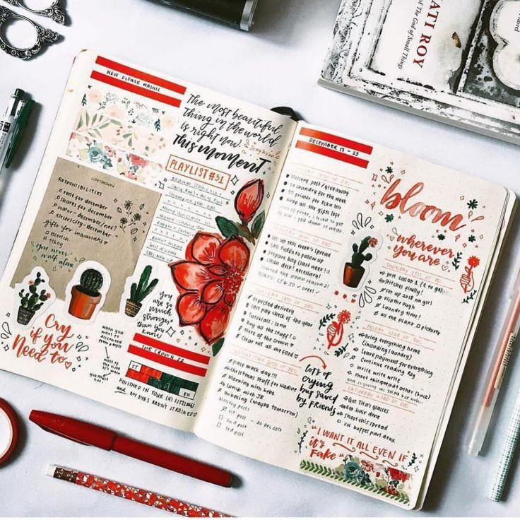 Top 10 Red Bullet Journal Spreads from this week!