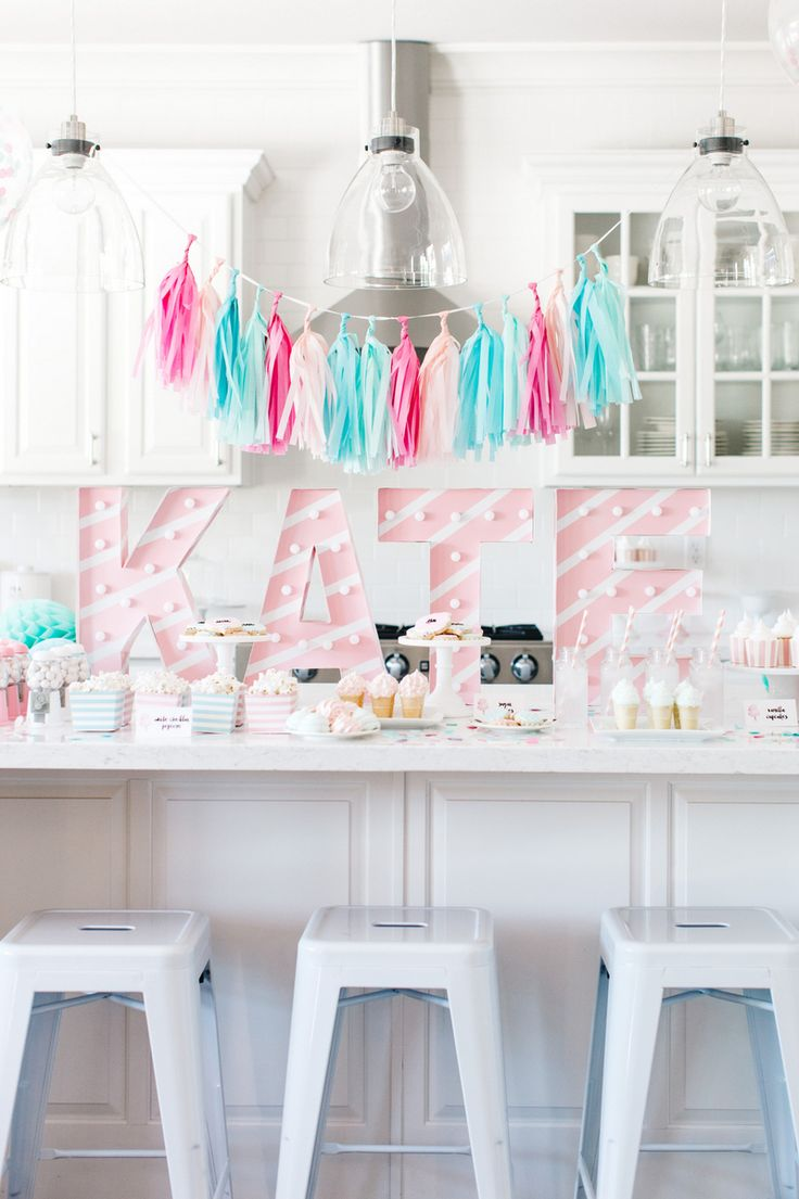 The TomKat Studio | Kate's Cotton Candy Party!