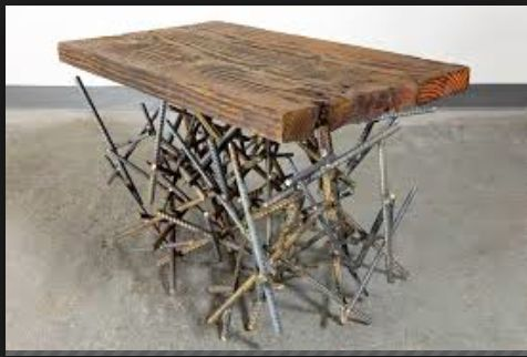 rebar and wood table from web | Rebar Furniture & Objects ...